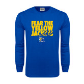 Royal Long Sleeve T Shirt-Fear the Yellow Jackets