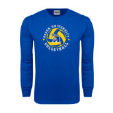 Royal Long Sleeve T Shirt-Logo in Volleyball