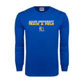 Royal Long Sleeve T Shirt-Stacked words Track