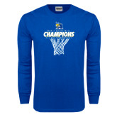 Royal Long Sleeve T Shirt-2016 A.I.I. NAIA Tournament Champions Mens Basketball