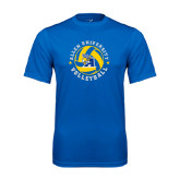 Syntrel Performance Royal Tee-Logo in Volleyball