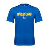 Performance Royal Tee-Stacked words Wrestling