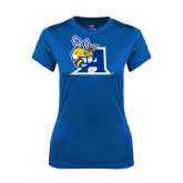 Ladies Syntrel Performance Royal Tee-A Logo