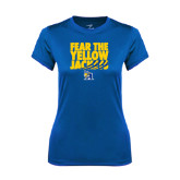 Ladies Syntrel Performance Royal Tee-Fear the Yellow Jackets