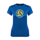 Ladies Syntrel Performance Royal Tee-Logo in Volleyball