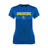 Ladies Syntrel Performance Royal Tee-Stacked words Wrestling