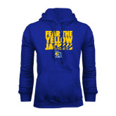 Royal Fleece Hoodie-Fear the Yellow Jackets