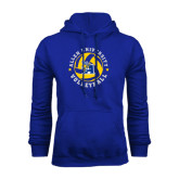Royal Fleece Hoodie-Logo in Volleyball