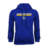 Royal Fleece Hoodie-Stacked words Cross Country