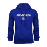 Royal Fleece Hoodie-Stacked words Debate Team