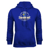 Royal Fleece Hoodie-2016 A.I.I. NAIA Tournament Champions Womens Basketball