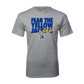 Grey T Shirt-Fear the Yellow Jackets