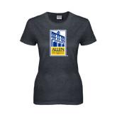 Ladies Dark Heather T Shirt-Edu Mark