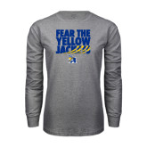 Grey Long Sleeve T Shirt-Fear the Yellow Jackets