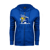 ENZA Ladies Royal Fleece Full Zip Hoodie-A Logo
