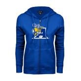ENZA Ladies Royal Fleece Full Zip Hoodie-A Logo
