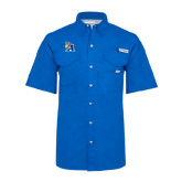 Columbia Bonehead Royal Short Sleeve Shirt-A Logo