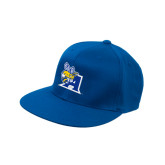 Royal Flat Bill Snapback Hat-A Logo