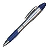 Silver/Blue Blossom Pen/Highlighter-Allen Word Mark