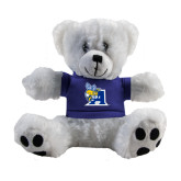 Plush Big Paw 8 1/2 inch White Bear w/Royal Shirt-A Logo