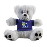 Plush Big Paw 8 1/2 inch White Bear w/Royal Shirt-A Logo