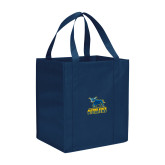 Non Woven Navy Grocery Tote-Primary Mark - Athletics