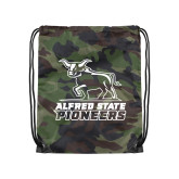 Camo Drawstring Backpack-Primary Mark - Athletics