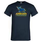 Navy T Shirt-Primary Mark - Athletics