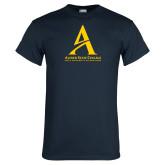 Navy T Shirt-Institutional Mark - Vertical