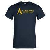 Navy T Shirt-Institutional Mark - 3 Lines - Horizontal