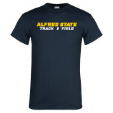 Navy T Shirt-Track and Field