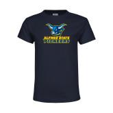 Youth Navy T Shirt-Ox Head Lock Up