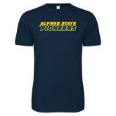 Next Level SoftStyle Navy T Shirt-Word Mark