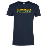 Ladies Navy T Shirt-Word Mark
