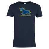 Ladies Navy T Shirt-Ox Body
