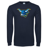 Navy Long Sleeve T Shirt-Ox Head