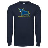 Navy Long Sleeve T Shirt-Ox Body