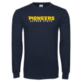 Navy Long Sleeve T Shirt-Pioneers Stacked