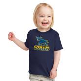 Toddler Navy T Shirt-Primary Mark - Athletics