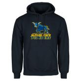 Navy Fleece Hoodie-Primary Mark - Athletics
