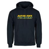 Navy Fleece Hoodie-Word Mark
