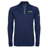 Under Armour Navy Tech 1/4 Zip Performance Shirt-Word Mark