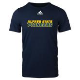 Adidas Navy Logo T Shirt-Word Mark