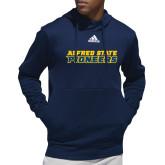 Adidas Navy Team Issue Hoodie-Word Mark