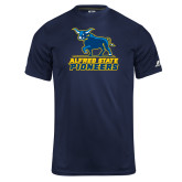 Russell Core Performance Navy Tee-Primary Mark - Athletics