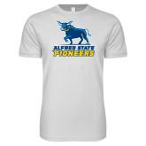 Next Level SoftStyle White T Shirt-Primary Mark - Athletics