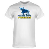 White T Shirt-Primary Mark - Athletics
