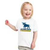 Toddler White T Shirt-Primary Mark - Athletics
