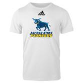 Adidas White Logo T Shirt-Primary Mark - Athletics