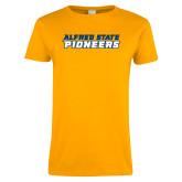 Ladies Gold T Shirt-Word Mark